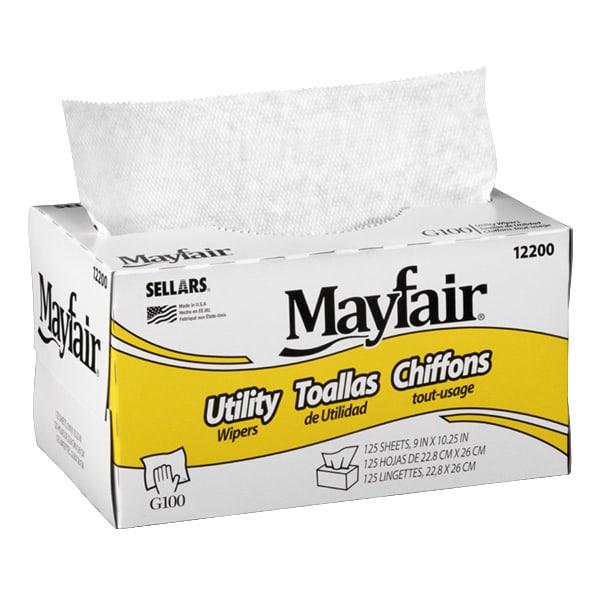 dispenser box of mayfair g100 utility wipers