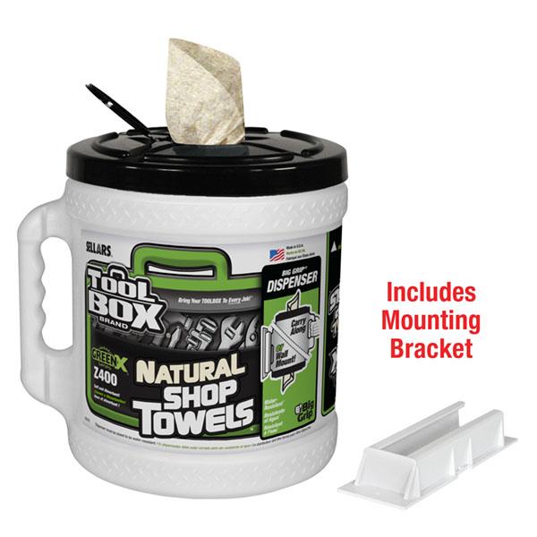 TOOLBOX GreenX Z400 Big Grip towel dispenser with mount