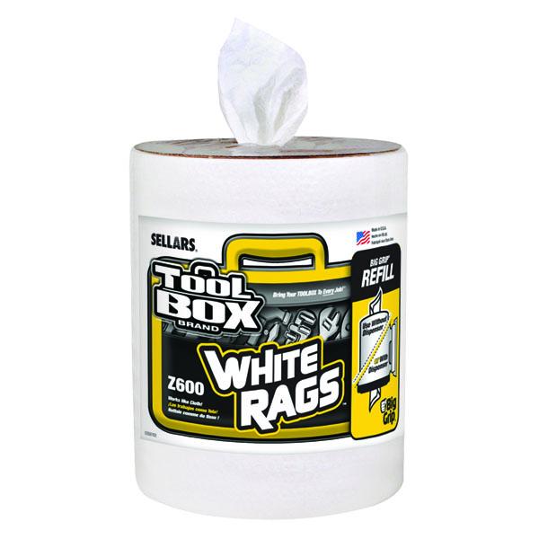 Sellars toolbox Z600 Big Grip bucket white rags refill