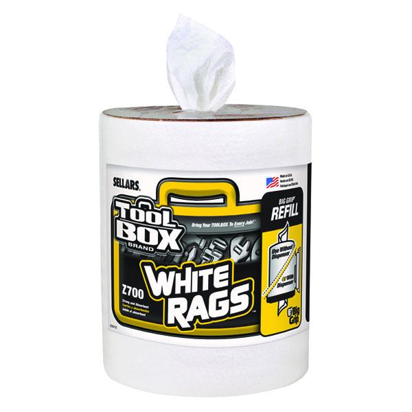 Sellars TOOLBOX Z700 Big Grip Bucket White Rags Refill