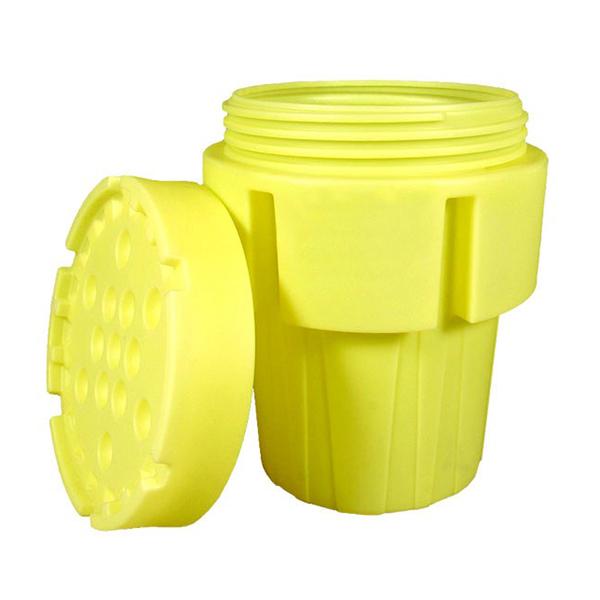 Sellars yellow 65 gallon overpack drum