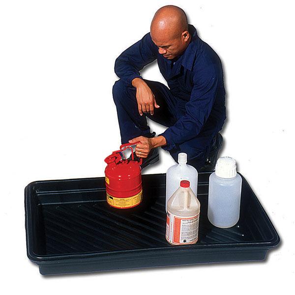 Man using Sellars 30-inch by 48-inch Utility Tray