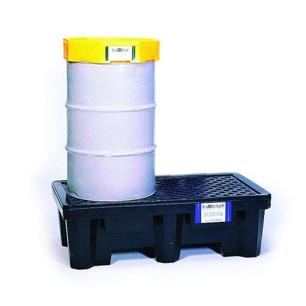 2 drum spill pallet with 55-gallon drum