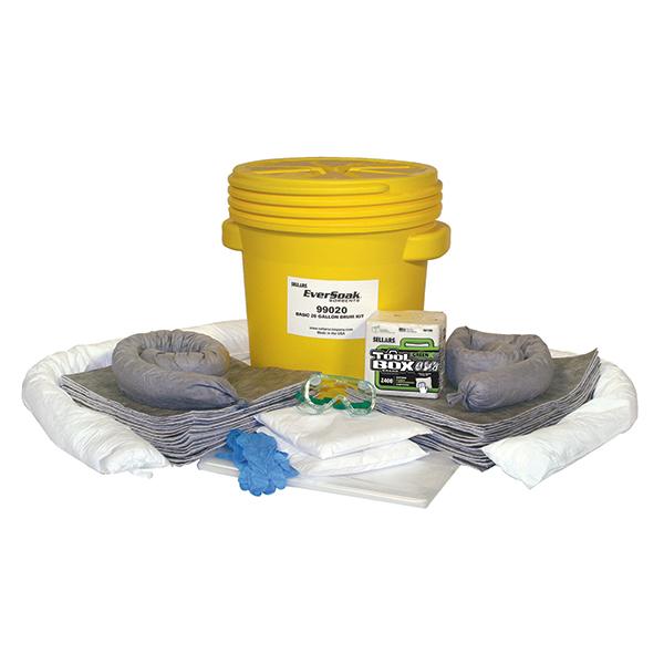 Sellars EverSoak General Purpose 20-gal Drum Spill Kit unpacked