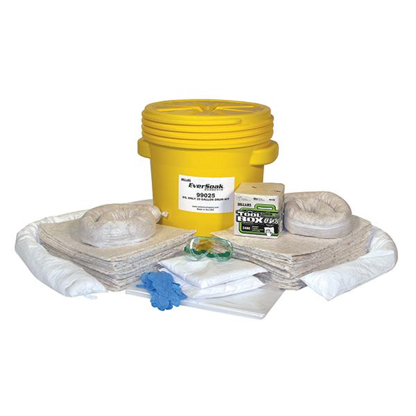 Sellars EverSoak® oil-only 20 gallon drum spill kit