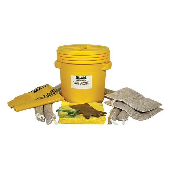 Sellars EverSoak Hazmat 20 Gallon Drum Spill Kit