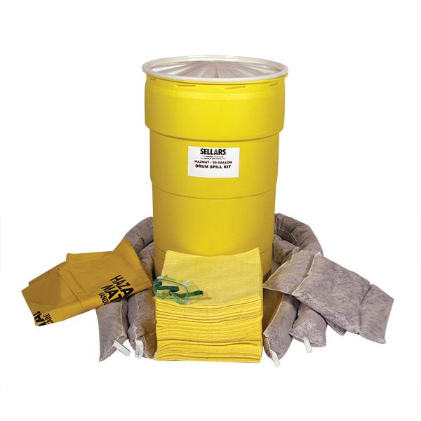 Sellars EverSoak hazmat 55 gallon drum spill kit