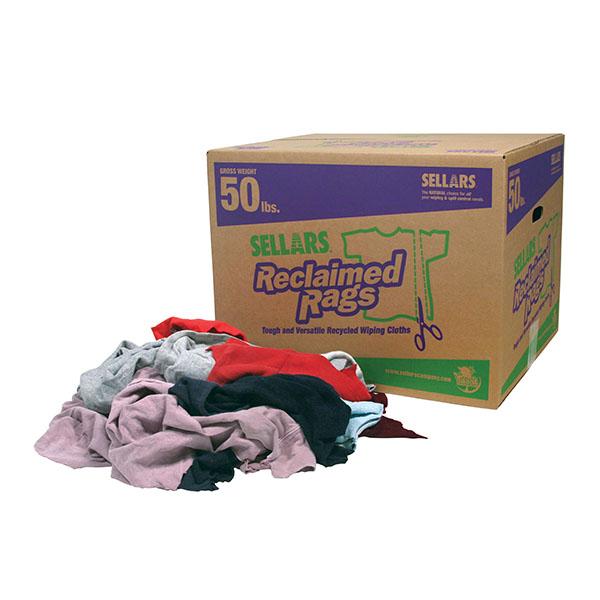 Sellars Reclaimed Colored Fleece Rags - 50lbs