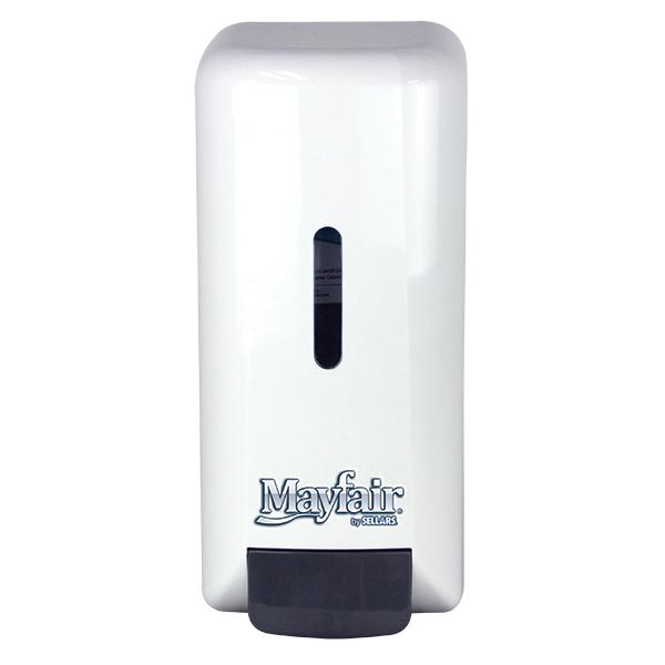 Sellars mayfair white manual foam soap dispenser